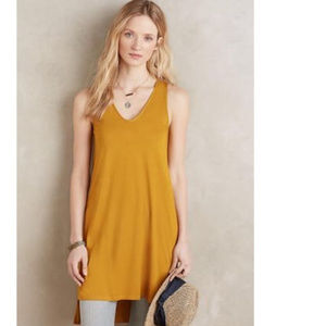 Anthropologie Akemi Kin Mustard Tunic Dress Tank S